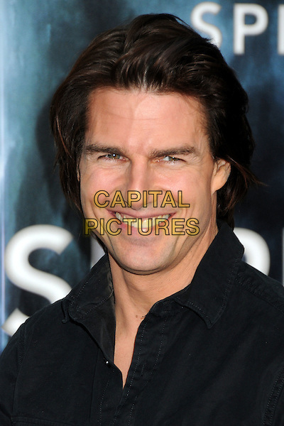 "Tom Cruise.""Super 8"" Los Angeles Premiere held at the Regency Village Theatre, Westwood, California, USA, 8th  June 2011..portrait headshot smiling black shirt .CAP/ADM/BP.©Byron Purvis/AdMedia/Capital Pictures."