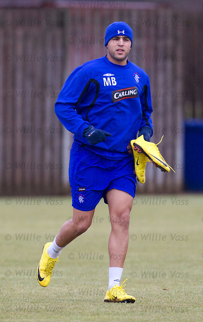 Madjid Bougherra at training with a spare pair of yellow boots
