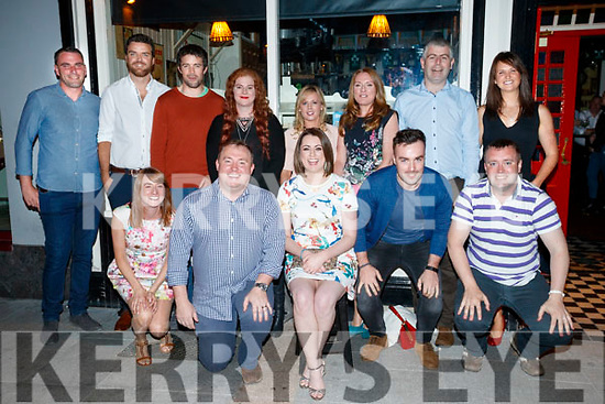Mary Conway, Forge Cross who celebrated her 30th birthday at Paddy Mac's Tralee on Saturday evening, Front from left  Treasa Edmounds, Michael Milner, Mary Conway, Padraig O'Sullivan and Liam Culloty. Back: Sean O'Connor, Ronan McGrath, Jamie O'Neill, Deirdre Milner, Caroline Dillane, Deirdre O'Connor, Eamon O'Neill and Susan O'Neill