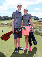 Wesley (Wes) and Lauren Cupp. Day One of the Toro NZ Speed Golf Open,  Windross Farm Golf Course, Auckland, New Zealand. Saturday 24 February 2018. Photo: Simon Watts/www.bwmedia.co.nz