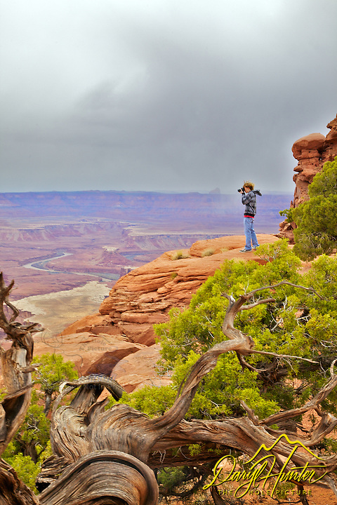 Photographer, Green River Overlook, Canyonlands National Park, Moab, Utah