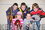 Musicians from Tarbert  competing in the North Kerry Sco?r finals at Mountcoal Listowel on Saturday night were front   Aine Walsh and Denise Sheehan.  Back l-r Fiona?n Kissane, Sean and Finbarr Carrig..   Copyright Kerry's Eye 2008