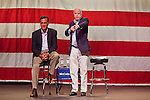June 4 - MESA, AZ: Former Gov. MITT ROMNEY (left) and US Senator JOHN MCCAIN appear at a McCain town hall meeting at Mesa High School in Mesa, AZ, Friday. US Senator John McCain and former Massachusetts Governor Mitt Romney appeared together in a McCain town hall meeting in Mesa, AZ, Friday to promote McCain's reelection campaign. The long serving Republican US Senator is in a tight primary battle with former Congressman JD Hayworth who is running on a conservative plank against McCain.   Photo By Jack Kurtz / ZUMA Press