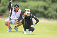 Nelly Korda (USA) on the 2nd green during Round 3 of the Ricoh Women's British Open at Royal Lytham &amp; St. Annes on Saturday 4th August 2018.<br /> Picture:  Thos Caffrey / Golffile<br /> <br /> All photo usage must carry mandatory copyright credit (&copy; Golffile | Thos Caffrey)