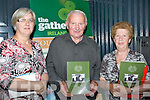 DNA: Martina Brennan (Volunteer for Ire Reaching Out) Tralee, John and Sheila Daly of th (Daly-Brosnan group) (Castleisland) in conjuction with the East Kerry Roots Festival & Brosnan Clan Gathering in the River Island Hotel, Castleisland on Friday evening.
