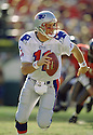 New England Patriots Drew Bledsoe (11) during a game from his 1997 season with the New England Patriots. Drew Bledsoe played for 14 season with 3 different teams and was a 4-time Pro Bowler.