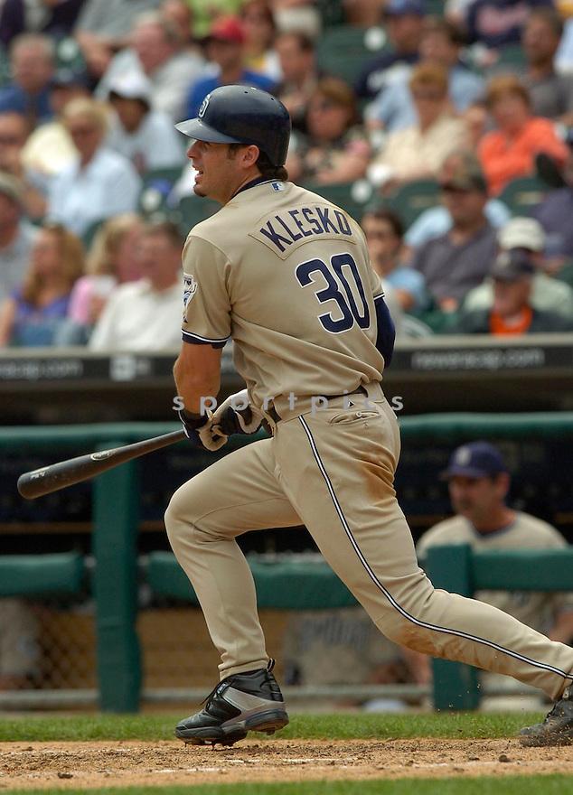 Ryan Klesko during the San Diego Padres v. Detroit Tigers game on June 16, 2005..Tigers win 3-1..David Durochik / SportPics