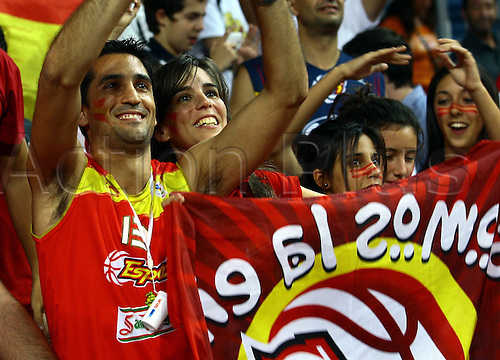 Sep 04, 2010; Istanbul, TURKEY; Defending champions Spain broke open a close game in the fourth quarter and continued their mastery over Greece by winning their Eight-Final showdown at the FIBA World Championship on Saturday. Spain's fans.