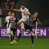 Jonas Hector (1. FC Koeln) gegen Dominik Kohr (Eintracht Frankfurt) - 18.12.2019: Eintracht Frankfurt vs. 1. FC Koeln, Commerzbank Arena, 16. Spieltag<br /> DISCLAIMER: DFL regulations prohibit any use of photographs as image sequences and/or quasi-video.