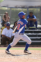 Wllson Contreras of the Chicago Cubs plays in a minor league spring training game against the San Francisco Giants at the Cubs complex on March 29, 2011  in Mesa, Arizona. .Photo by:  Bill Mitchell/Four Seam Images.