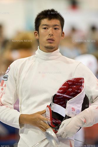06, AUGUST, 2013, Kazuyasu Minobe (JPN), World Fencing Championships Budapest 2013, Men's Individual Epee Qualifications at Syma Hall in Budapest, Hungary. (Photo by Enrico Calderoni/AFLO SPORT) [0391]
