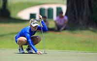Jessica Korda (USA) in action on the 16th during Round 4 of the HSBC Women's World Championship 2018 at Sentosa Golf Club on the Sunday 4th March 2018.<br /> Picture:  Thos Caffrey / www.golffile.ie<br /> <br /> All photo usage must carry mandatory copyright credit (&copy; Golffile | Thos Caffrey)