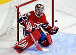 15 October 2009: Montreal Canadiens' goaltender Carey Price gives up a second period goal to the Colorado Avalanche at the Bell Centre in Montreal, Quebec, Canada. The Avalanche edged out the Habs 3-2 in Montreal's season home opener. Mandatory Credit: Ed Wolfstein Photo