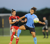 Boyds, MD - Saturday June 25, 2016: Ali Krieger, Raquel Rodriguez during a United States National Women's Soccer League (NWSL) match between the Washington Spirit and Sky Blue FC at Maureen Hendricks Field, Maryland SoccerPlex.