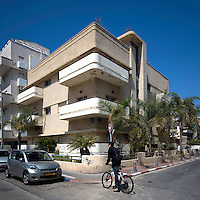 A Bauhaus style building at 1 Frankfurt Street built by architect Zvi Spokoini in 1937. Tel Aviv is known as the White City in reference to its collection of 4,000 Bauhaus style buildings, the largest number in any city in the world. In 2003 the Bauhaus neighbourhoods of Tel Aviv were placed on the UNESCO World Heritage List.