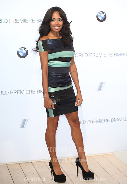 Jade Ewan arriving for the BMW i3 Launch Party, at Old Billingsgate, London. 29/07/2013 Picture by: Alexandra Glen / Featureflash