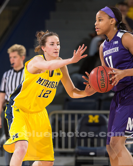 The University of Michigan women's basketball team beat Northwestern, 55-50, at Crisler Center in Ann Arbor, Mich., on February 28, 2013.