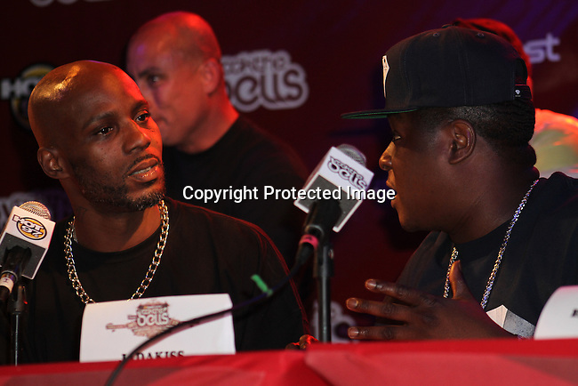 DMX and Jadakiss Attend Boost Mobile in association with Guerilla Union Presents An East Coast ROCK THE BELLS FESTIVAL SERIES Press Conference and Fan Appreciation Party at Santos Party House, NY D. Salters/WENN 6/13/12