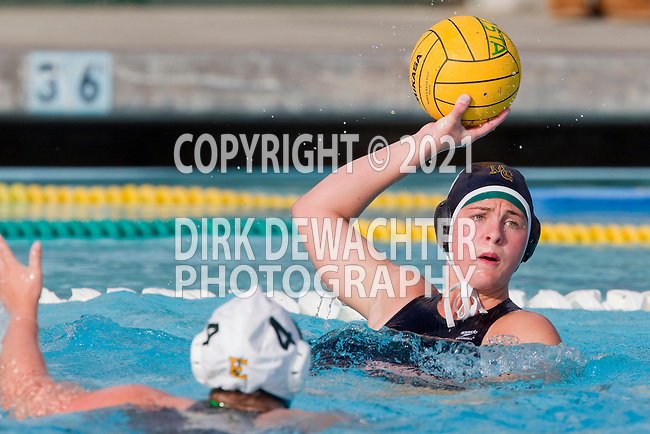 Manhattan Beach, CA 02/16/11 - Natalie Lavinsky (Mira Costa #3) in action during the 2011 first round CIF girls waterpolo playoffs between Edison and Mira Costa.