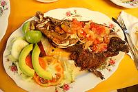 Dish of guapote or rainbow bass from Lake Nicaragua, Granada, Nicaragua