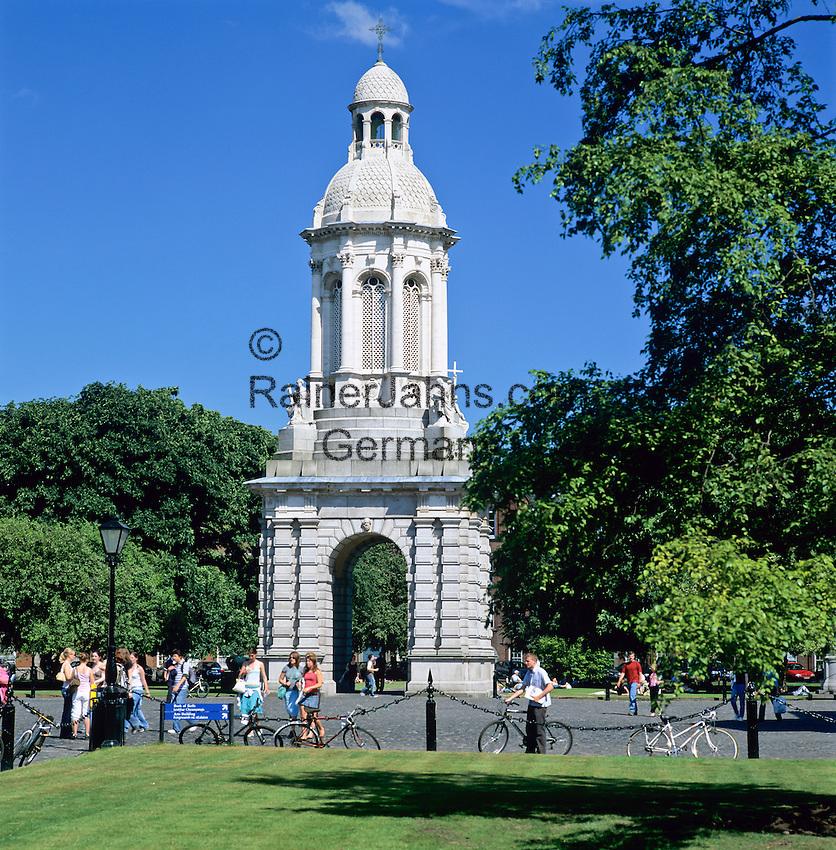 Ireland, Dublin County, Dublin: Trinity College, The Campanile   Irland, Dublin County, Dublin: Trinity College, The Campanile