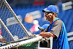 3 July 2010: New York Mets manager Jerry Manuel watches batting practice prior to a game against the Washington Nationals at Nationals Park in Washington, DC. The Nationals defeated the Mets 6-5 in the third game of their 4-game series. Mandatory Credit: Ed Wolfstein Photo