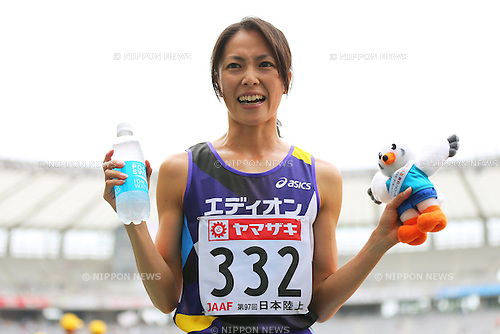 Yoshika Arai (JPN), <br /> June 9, 2013 - Athletics : <br /> The 97th Japan Athletics National Championships, Women's 3000mSC Final <br /> at Ajinomoto Stadium, Tokyo, Japan. <br /> (Photo by Daiju Kitamura/AFLO SPORT)