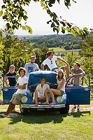 Group of teenagers in the countryside in Asolo