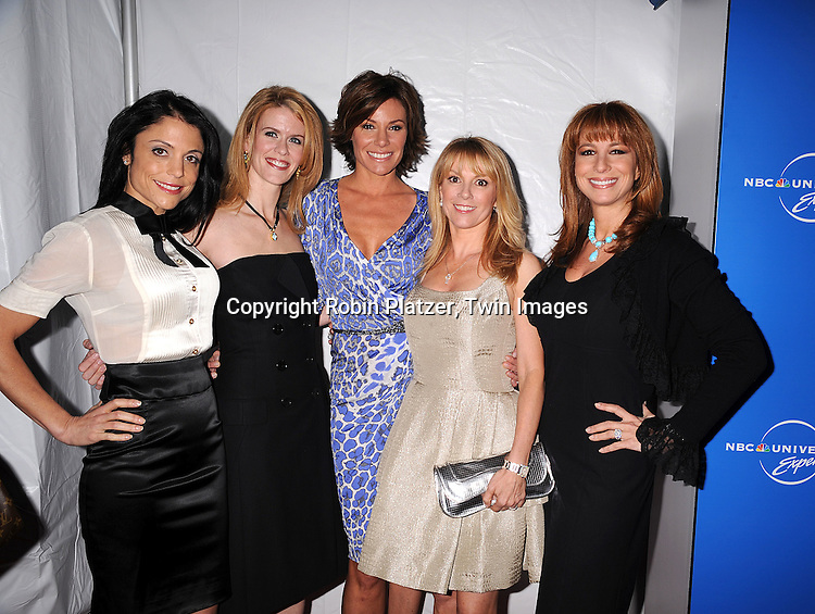 "The Real Housewives of New York City"" cast..posing for photographers at The NBC Universal Experience of their Fall 2008-2009 schedule on May 12, 2008 at Rockefeller Center. Stars from NBC, USA, Bravo, Scifi, Oxygen, Telemundo and mun2 were there. ....Robin Platzer, Twin Images"