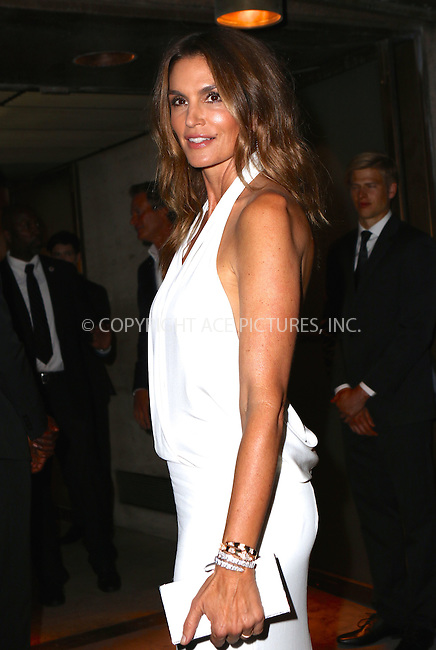 www.acepixs.com<br /> <br /> September 7 2016, New York City<br /> <br /> Cindy Crawford attending the Tom Ford fashion show during New York Fashion Week on September 7, 2016 in New York City.<br /> <br /> By Line: Nancy Rivera/ACE Pictures<br /> <br /> <br /> ACE Pictures Inc<br /> Tel: 6467670430<br /> Email: info@acepixs.com<br /> www.acepixs.com