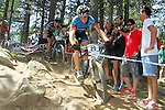 27.07.2013 La Massana, Andorra. UCI Mountain Bike World Cup. Picture show Kevin Van Hoovels (BEL) in action during Cross-Country Final at Vallnord