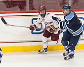 Haley McLean (BC - 13), Brooke Stacey (Maine - 3) - The Boston College Eagles defeated the visiting University of Maine Black Bears 2-1 on Saturday, October 8, 2016, at Kelley Rink in Conte Forum in Chestnut Hill, Massachusetts.  The University of North Dakota Fighting Hawks celebrate their 2016 D1 national championship win on Saturday, April 9, 2016, at Amalie Arena in Tampa, Florida.