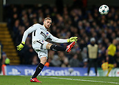 5th December 2017, Stamford Bridge, London, England; UEFA Champions League football, Chelsea versus Atletico Madrid; Goalkeeper Jan Oblak of Atletico Madrid punts upfield