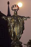 Ile D'Orleans, Quebec City Area, Canada, June 8, 1984. A statue of Jesus.
