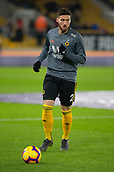 11th February 2019, Molineux, Wolverhampton, England; EPL Premier League football, Wolverhampton Wanderers versus Newcastle United; Matt Doherty of Wolverhampton Wanderers warming up with the ball before the match