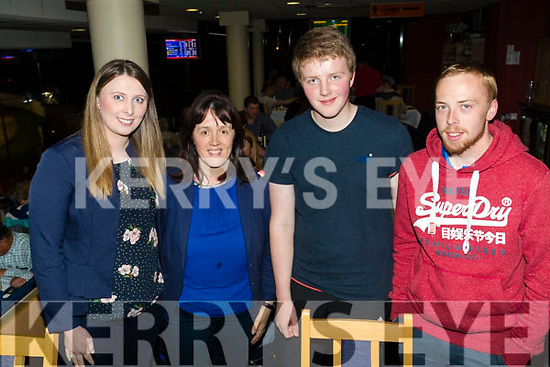 Philomena Knightly, Aine Knightly, Seamus Knightly and Mark Cavanagh, pictured at the Annascaul GAA fundraiser Night at the Dogs at the Kingdom Greyhound Stadium, Tralee on Saturday night last.