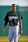 13 March 2008: Florida Marlins' outfielder Cameron Maybin warms up prior to a Spring Training game against the Washington Nationals at Space Coast Stadium, in Viera, Florida. The Marlins defeated the Nationals 2-1 in the Grapefruit League matchup...Mandatory Photo Credit: Ed Wolfstein Photo