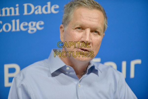 CORAL GABLES, FL - MAY 26: John Kasich, Governor of Ohio and a former U.S. presidential candidate speaks and sign copies of his new book &quot;Two Paths: America Divided or United&quot; at Books and Books on May 26, 2017 in Coral Gables, Florida. <br /> CAP/MPI10<br /> &copy;MPI10/Capital Pictures