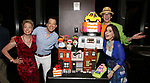 Jennifer Barnhart, John Tartaglia, Rick Lyon and Stephanie D'abruzzo attends the 'Avenue Q' - 15th Anniversary Performance Celebration at Novotel on July 31, 2018 in New York City.