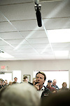 January 24, 2008. Laurens, SC.. Presidential candidate and former US senator, John Edwards campaigned across the western part of South Carolina today in an effort to shore up support before Saturday's primary election.. Edwards spoke to supporters at the Giant Burger in Laurens, SC.