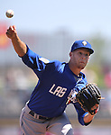Zach Wheeler pitches for the Las Vegas 51s during a minor league baseball game against the Reno Aces in Reno, Nev., on Tuesday, April 30, 2013. (AP Photo/Cathleen Allison)