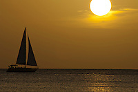 Sailboat at sunset<br />