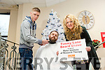 Lane Brothers Furniture €1000 for  Movember Shave in Aid of Mater Institute of Research Therapy. Pictured l-r Tony Slimmon from The Manor Barbers, Timmy Lane Breda Barron