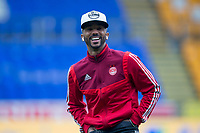 24th November 2019; McDairmid Park, Perth, Perth and Kinross, Scotland; Scottish Premiership Football, St Johnstone versus Aberdeen; Shaleum Logan of Aberdeen inspects the pitch before the match - Editorial Use