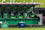 10.02.2019, Weserstadion, Bremen, GER, 1.FBL, Werder Bremen vs FC Augsburg<br /> <br /> DFL REGULATIONS PROHIBIT ANY USE OF PHOTOGRAPHS AS IMAGE SEQUENCES AND/OR QUASI-VIDEO.<br /> <br /> im Bild / picture shows<br /> Ersatzbank Werder Bremen, Trikots der sich aufw&auml;rmenden Ersatzspieler warten auf Einsatz, Marco Friedl (Werder Bremen #32), Milos Veljkovic (Werder Bremen #13), Claudio Pizarro (Werder Bremen #04), <br /> <br /> Foto &copy; nordphoto / Ewert