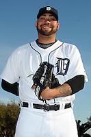 Feb 21, 2009; Lakeland, FL, USA; The Detroit Tigers pitcher Joel Zumaya (54) during photoday at Tigertown. Mandatory Credit: Tomasso De Rosa/ Four Seam Images