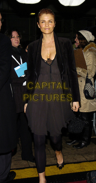 "HELENA CHRISTENSEN.Premiere of ""Breaking and Entering"" at the Paris Theater, New York, New York, USA..January 18th, 2007.full length black jacket brown dress leggings.CAP/ADM/BL.©Bill Lyons/AdMedia/Capital Pictures *** Local Caption ***"