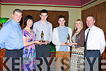 AWARDS: Jack Barry and Darragh Carmody St Brendan's and Na Gaeil under 17s who were presented with a special award from their mothers on Saturday night at Na Gaeil Social night in Na Gaeil GAA Club. L-r: John, Eileen and Jack Barry, Darragh,Avril and Aiden Carmody.
