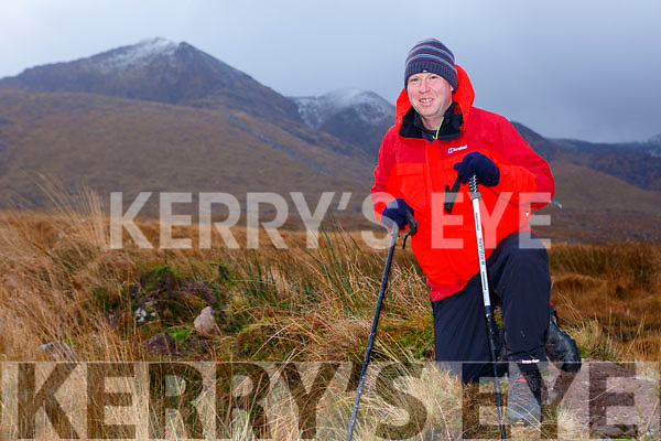 Niall Dennehy Glenflesk  who has lost ten stone in the last year in training for his climb of Kilimanjero in the McGillicddy Reeks on Sunday morning