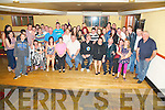 Robert Donnelly, Pinewood Estate, Killarney, pictured with his family and friends as he celebrated his 18th birthday in the Inn Between Bar, Beaufort on Saturday night. ........................................................................................................